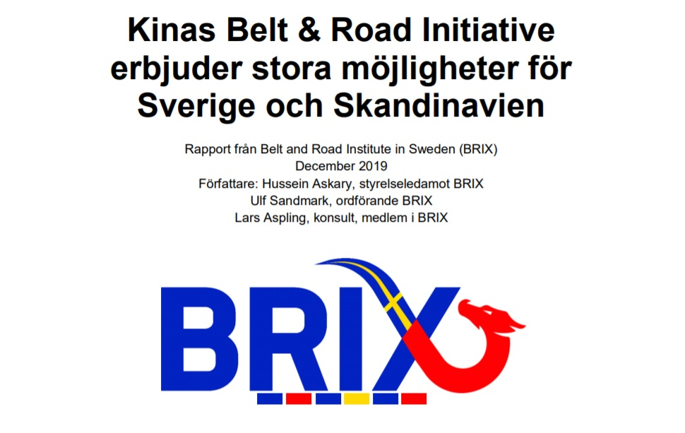 BRIX producerar förast svenska Belt and ROad Initiative rapport